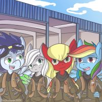 Super Squad - We ace the skies! (by geckogeek9890) by The-Nuclear-Pegasus