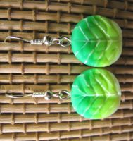 Lettuce Earrings by skookyspry