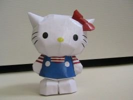 Hello Kitty papercraft by may7733