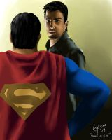 Superman vs Sylar by Eugeneoyc