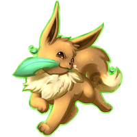 Eevee Charms: Leafeon by KitsuGuardian