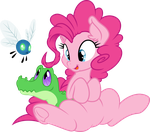 Pinkie and her little friends by MacTavish1996