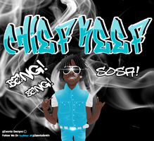 Chief Keef Cartoon Graphic Design by ZeontaSmith