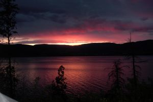 Pink Sunset over Ok Lake by Marcus3177