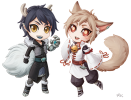 Ascended Chibis by Sleepingfox
