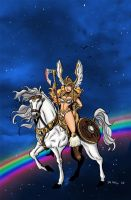 Valkyrie on horse by ThaneBobo