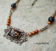 Copper Pearl and Chainmaille by JewelledTrellis