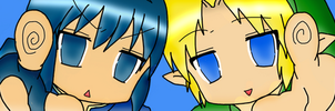 Marth and Link by Cinderella-hime