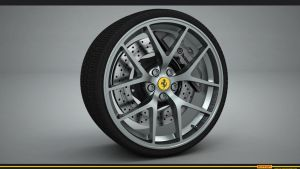 Ferrari wheel render by RJamp