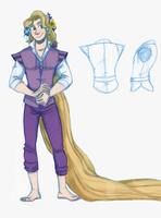 Male!Rapunzel Cosplay Reference by pinkyapple