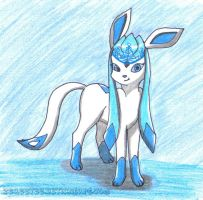 Request - Frost Queen, Glaceon by zeaeevee