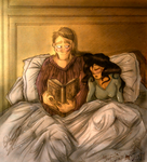 Hannibloom - Reading and Snuggling by MrsEmmyJ