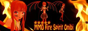 MMD Fire Spirit Onibi Download by SachiShirakawa