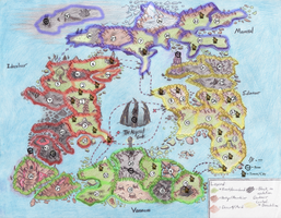 Mierdal World Map With Markers by Ai1ment