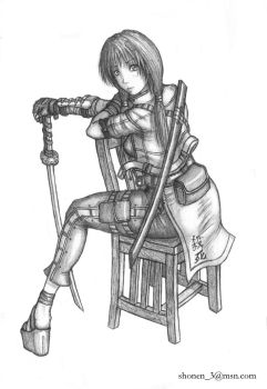 Girl On Chair by Shonen83