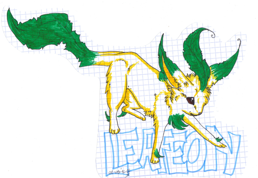 470. Leafeon by disasterpuppet