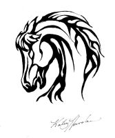 Stallion Tattoo Design by ash-night-k