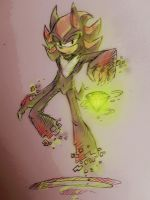 Shadow the Hedgehog- Chaos Portal Sketch by Zombie-Commissioner