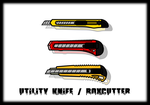 My custom walfas props - Utility Knives (X4) by Rumiflan