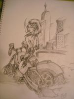 Biker Chick by UndamedWolf