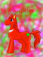 Knuckles Pony by sexyback2010