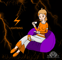 Girl of Lightning - Lily by Kingofsouls