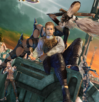 Balthier and Fran (2) by AuraIan