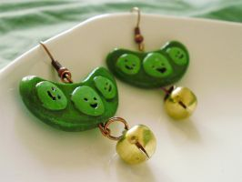 Edamame Sushi Earrings by alexredford