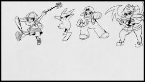 Fighter poses by Pikachu84