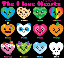 I Loveee Hearts Icons by KawaiiSwwagg