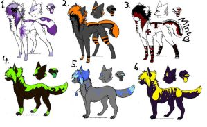 scenedogs adoptables OPEN by Shadyyayay