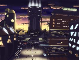 Futuristic Cityscape 2 by Sincress