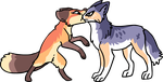 Fox and the wolf by griffsnuff