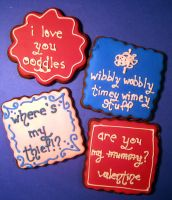 Dr Who Valentine Cookies 4 by Sadeira