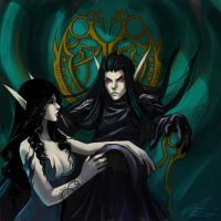 WoW: Felinthir and Sarai by Altana