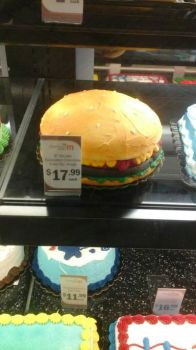 Burger Cake by Taureansmithpartee