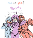 Blue or Red .... Violet!! by DLN-00M