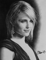 Dianna Agron drawing by Live4ArtInLA