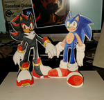 Sonadow - Return of the Papercraft Sonadow! by SonicRemix