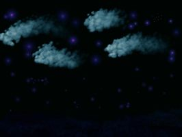Sea At Night Background by jannied