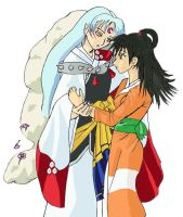 Grown up Rin and Sesshomaru v1 by YukiRyu