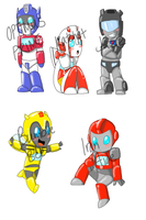 Baby Transformers Stickers by cookiecutter60