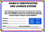 Game-Fi Licence Certificate Templates by LevelInfinitum