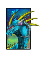 .:Commission:..:Damascus:. by Dark-Spine-Dragon
