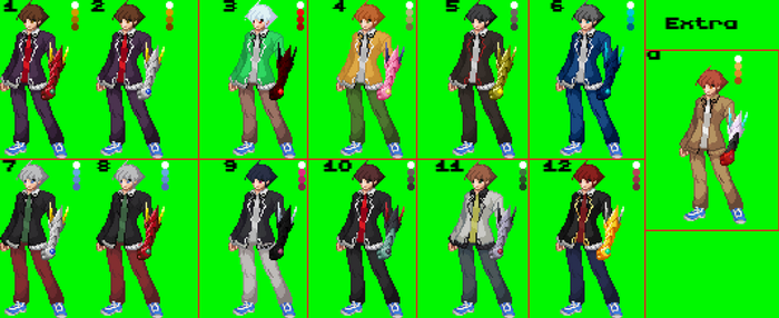 Issei Sprites and alt. colors by kami-en