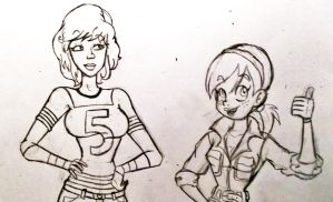 April and April Sketch Preview by TMNT1984