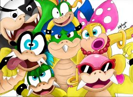 Koopalings Group Shot by GameMaster14