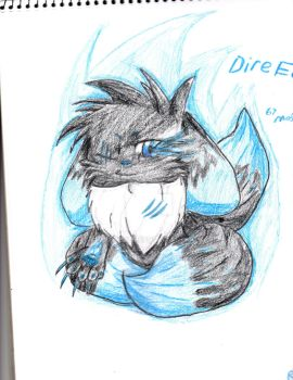 Dire Eevee: Mah new cutest oc, :D by Masterx3