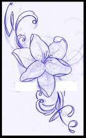 Lily tattoo design by thirteen7s