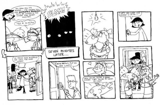 Hey Arnold - closet game comic by ArnoldMania